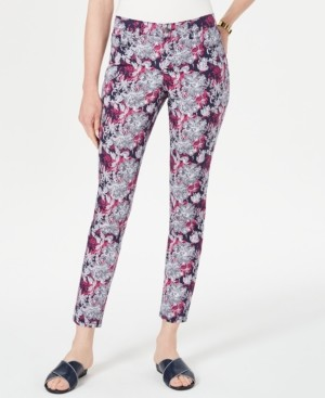 Charter Club Floral-Print Skinny Jeans, Created For Macy's