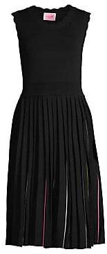 Kate Spade Women's Fit& Flare Pleated Sweater Dress