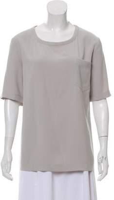 St. John Oversize Scoop Neck T-Shirt Beige Oversize Scoop Neck T-Shirt