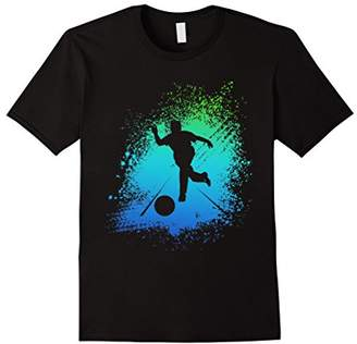 Bowling Colorful T Shirt Watercolor Painting Graphic Style
