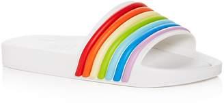 Melissa Women's 3-D Rainbow Pool Slide Sandals