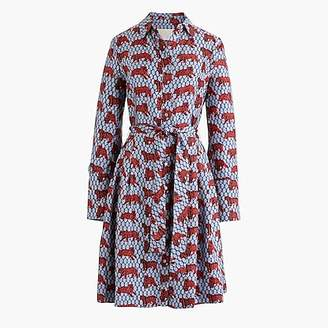 J.Crew Collection silk twill shirtdress in roaming tiger print