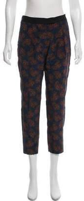 A.L.C. Printed Paisley Silk Straight-Leg Pants