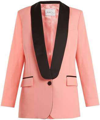 RACIL New York contrast-lapel wool blazer