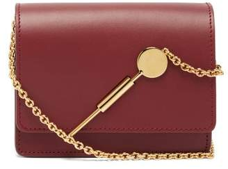Sophie Hulme Micro Leather Cross Body Bag - Womens - Burgundy