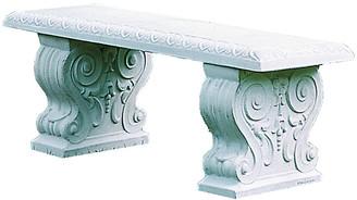 Campania International Traditional Outdoor Bench - Natural