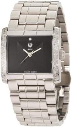 Brillier Men's 08-41131-01 Klassique Square Stainless Steel Analog Watch