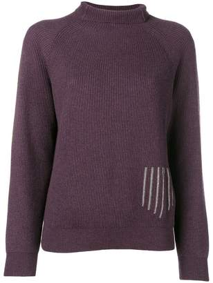 Fabiana Filippi ribbed turtle neck jumper