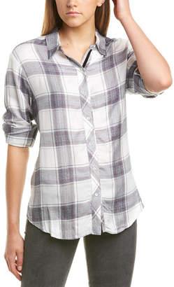 Michael Stars High-Low Boyfriend Button-Down Shirt