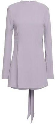 Les Héroïnes The Billie Open-back Bow-detailed Washed-crepe Mini Dress