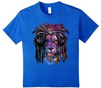 Rasta Lion T-shirt Vintage Animal Art Galaxy Lion Tee