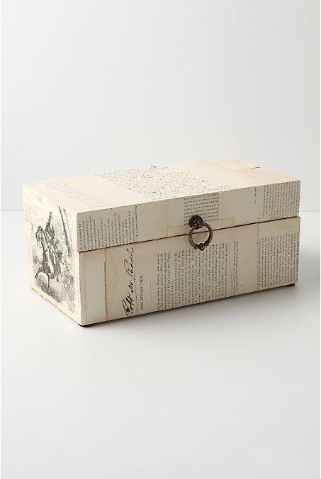 Papered Past Keepsake Box