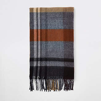 River Island Brown check scarf