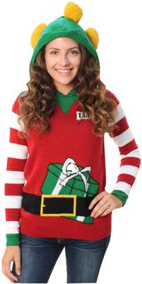 Ugly Chritmaweater Women' Elf Hoodedweater-mall