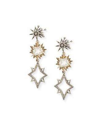 Lulu Frost Cosmic Two-Tone Star Drop Earrings $250 thestylecure.com