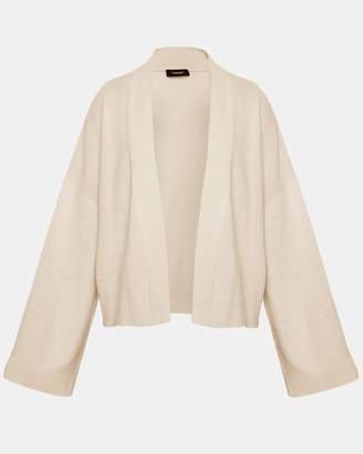 Theory Cashmere Wide-Sleeve Cardigan