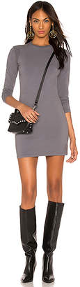 Monrow Moto Long Sleeve Mini Dress