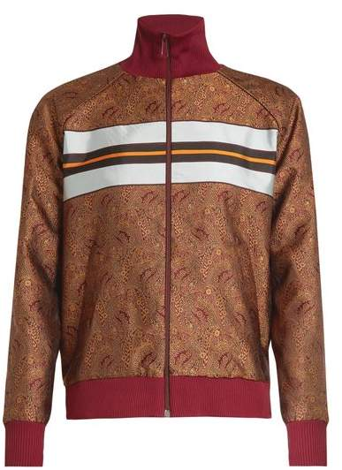 HILLIER BARTLEY Paisley-jacquard track top