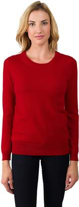 L・I・U JENNIE LIU Women's 100% Pure Cashmere Long Sleeve Crew Neck Sweater (M, )