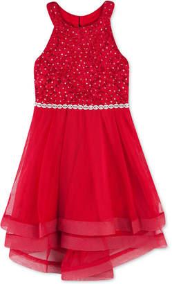 Speechless Little Girls Lace Crinoline-Trim Dress