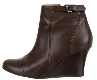Lanvin Leather Wedge Booties