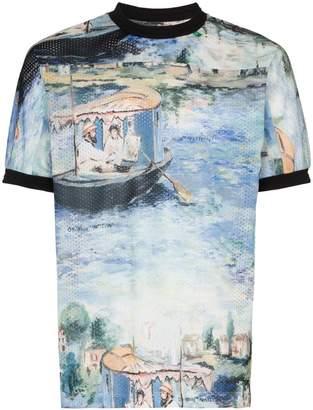 Off-White Lake print mesh t shirt