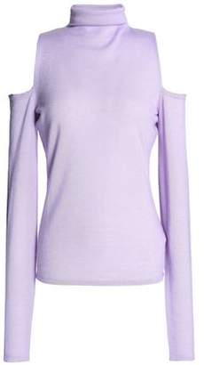 Amanda Wakeley Cold-Shoulder Cashmere Turtleneck Sweater
