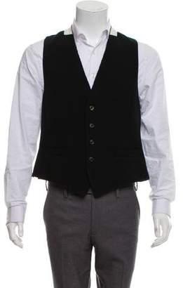 Dries Van Noten Wool Colorblock Vest