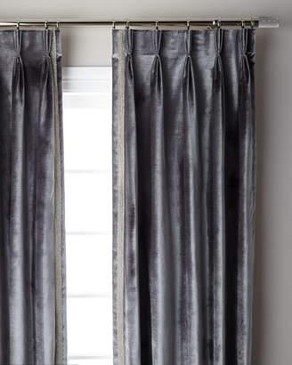 "Thomas Laboratories Misti Modern Luxuries Graphite Pave 3-Fold Pinch Pleat Curtain Panel, 96"""