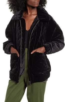 I AM GIA I.AM.GIA Contraband Quilted Velvet Jacket