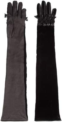 DSQUARED2 embellished elbow length gloves