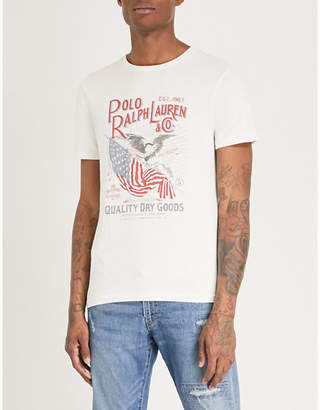 Polo Ralph Lauren Flag-print cotton-jersey T-shirt