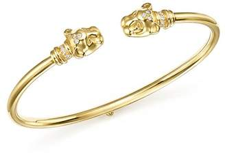 Temple St. Clair 18K Yellow Gold Lion Cub Bellina Diamond Bracelet