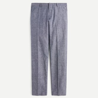 J.Crew Ludlow Classic-fit suit pant in blue grey cotton-linen