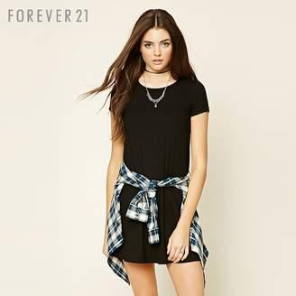 Forever 21 (フォーエバー 21) - Forever 21 レースアップテントワンピース