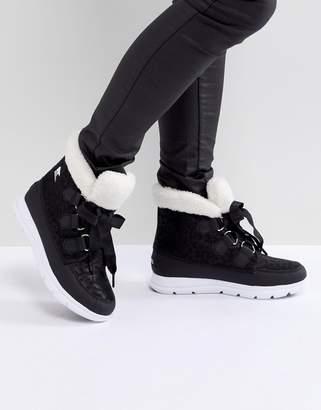 Sorel Explorer Carnival Black Waterproof Flat Boots