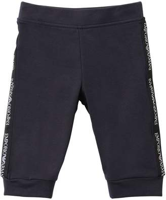 Emporio Armani Logo Side Bands Cotton Sweatpants