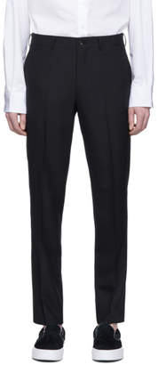Comme des Garcons Homme Homme Black Wool Poplin Trousers