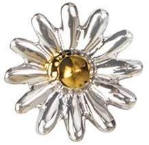 Loquet London 18k white gold daisy charm - Love