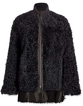 Akris Women's Reversible Shearling Bomber Coat