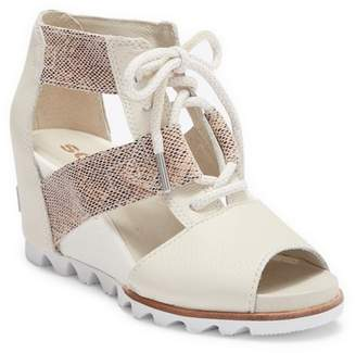 Sorel Joanie Lace-Up Wedge Sandal