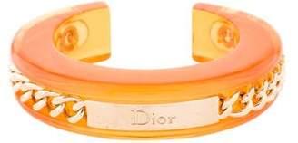 Christian Dior Logo Chain and Lucite Cuff