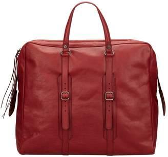 Balenciaga Burgundy Leather Travel Bag