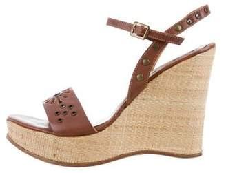 Dolce & Gabbana Leather Wedge Sandals