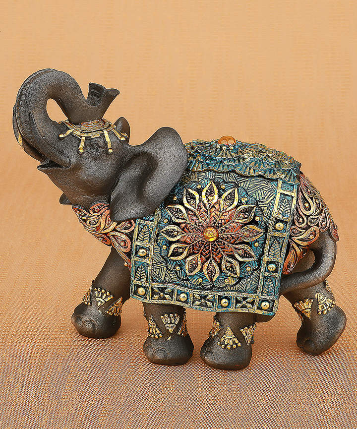 Brown & Gold Elephant Figurine