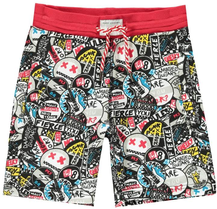 LITTLE MARC JACOBS Graffiti Punk Fleece Board Shorts