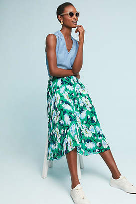 Maeve Claremont Pleated Midi Skirt