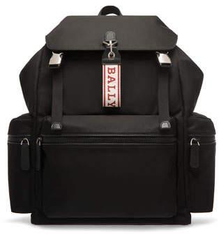 Bally Men's Flap-Top Nylon Backpack