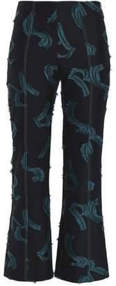 Sonia Rykiel Fil Coupé Twill Kick-Flare Pants