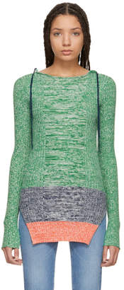 Ports 1961 Green Fully Fashioned Crewneck Sweater